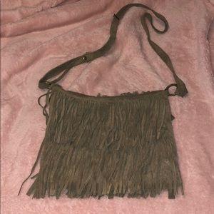 Fringe cross body bag